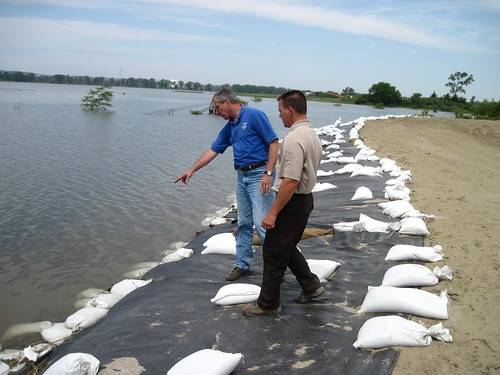 Regional Director Tom Melius inspects temporary levee | by U.S. Fish and Wildlife Service - Midwest Region