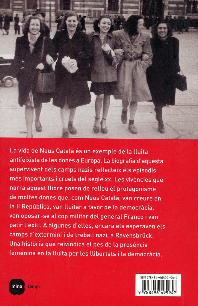 TRALLERO, Mar. Neus Català. La dona antifeixista a Europa. Barcelona: Mina, 2008.  (Contraportada)