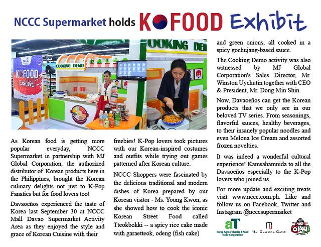 NCCC Supermarket KFOOD Exhibit (image from NCCC Davao) - DavaoLife.com