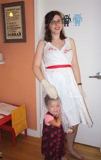 Finished: Doctors Without Borders T-shirt wedding dress costume | by M1khaela