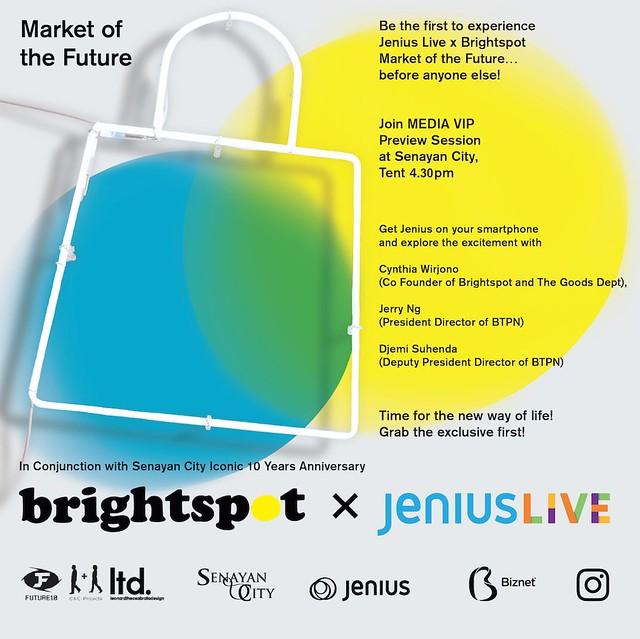 Brighspot x Jenius LIVE dengan tema Market of the Future Diadakan di Senayan City Selama Tiga Hari