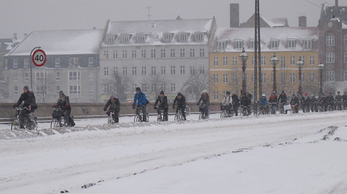 Copenhagen Winter Cycling - The Bridge Winter Traffic | by Mikael Colville-Andersen