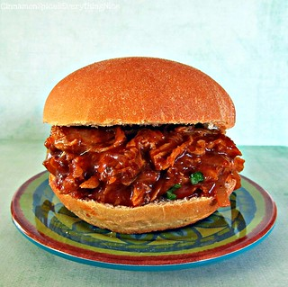 Slow Cooker Barbecue Pulled Pork Sandwich | by CinnamonKitchn