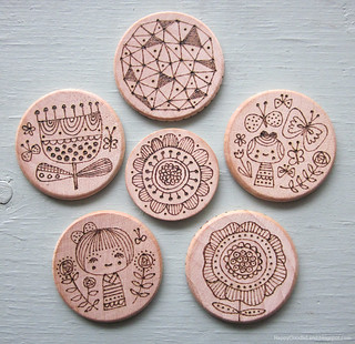 Wood-Burnt Doodles | by Flora Chang | Happy Doodle Land