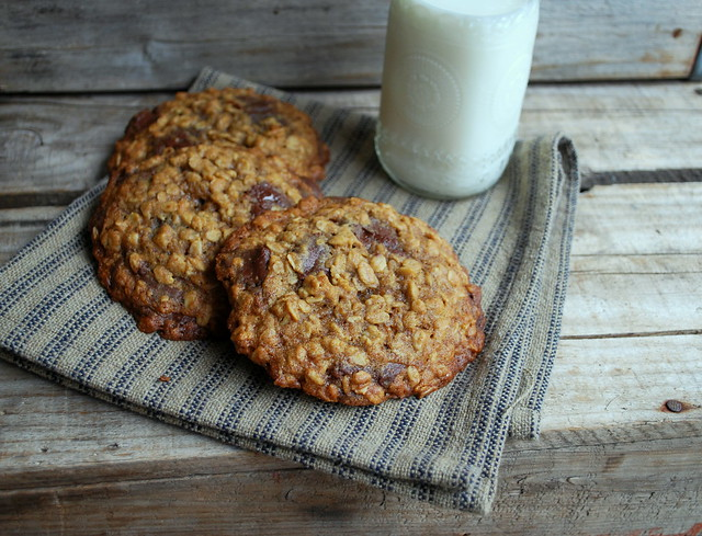 Giant Oatmeal Choc Chip Cookies
