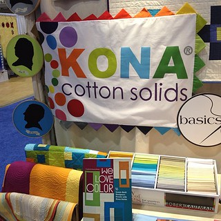 Our Kona booth! Love the 28 new colors! #quiltmarket #welovecolor | by The Official Robert Kaufman Fabrics