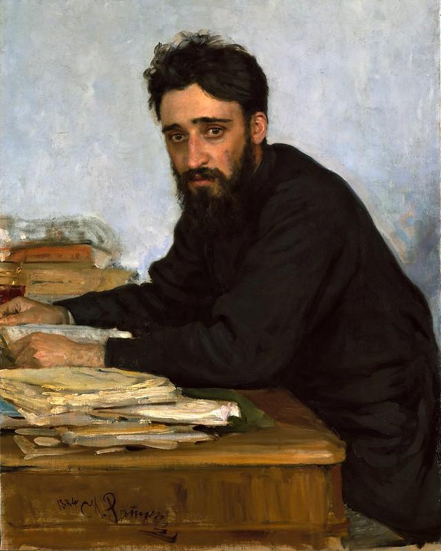 Ilya Repin - Portrait of writer Vsevolod Mikhailovich Garshin (1884)