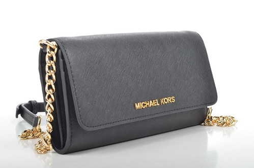 michael kors jet set travel wallet on a chain crossbody geldb rse 32f4gtvc9l kalbsleder. Black Bedroom Furniture Sets. Home Design Ideas