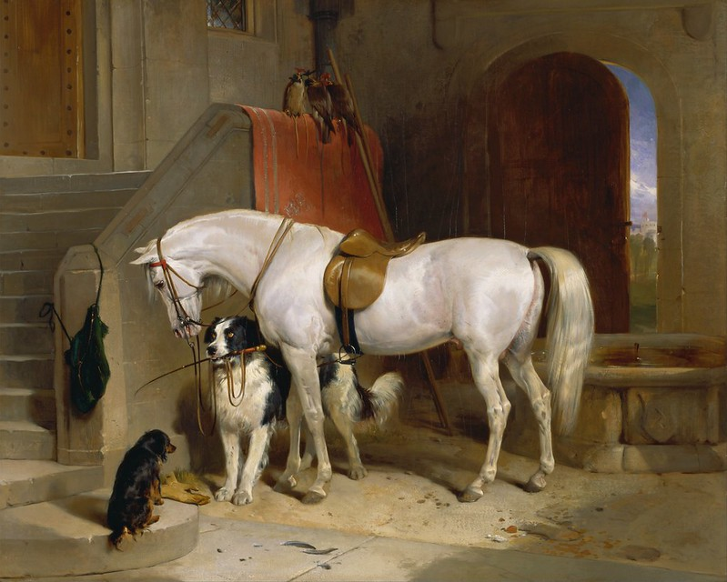 Sir Edwin Henry Landseer - Favourites, the Property of H.R.H. Prince George of Cambridge (1834)