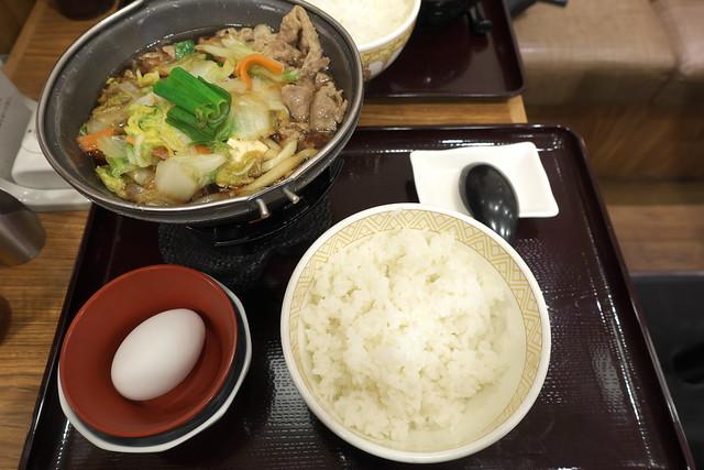 すき家 牛すき鍋定食_02