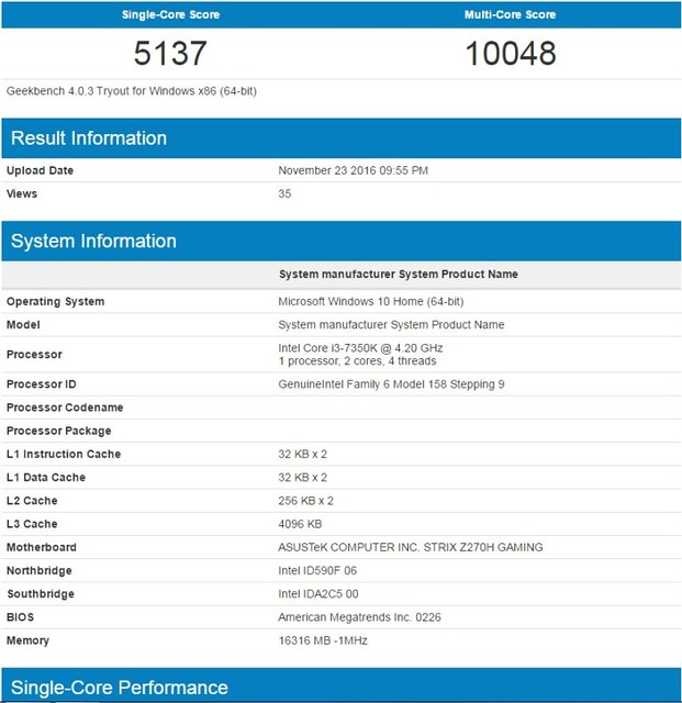 Intel Skylake, Kaby Lake, Kaby Lake-X