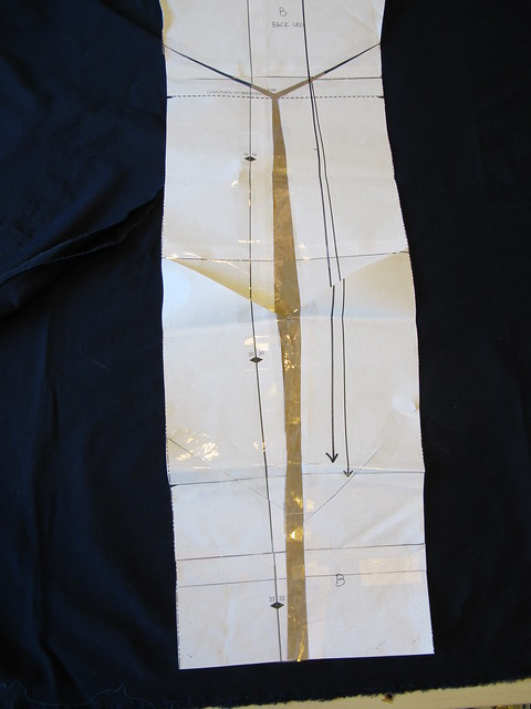 Navy Cotton twill Ginger Pants - full calf adjustment