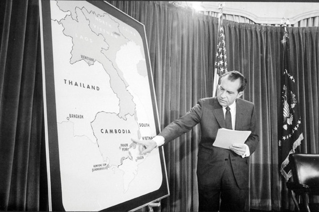 President Nixon 1970 CIA map