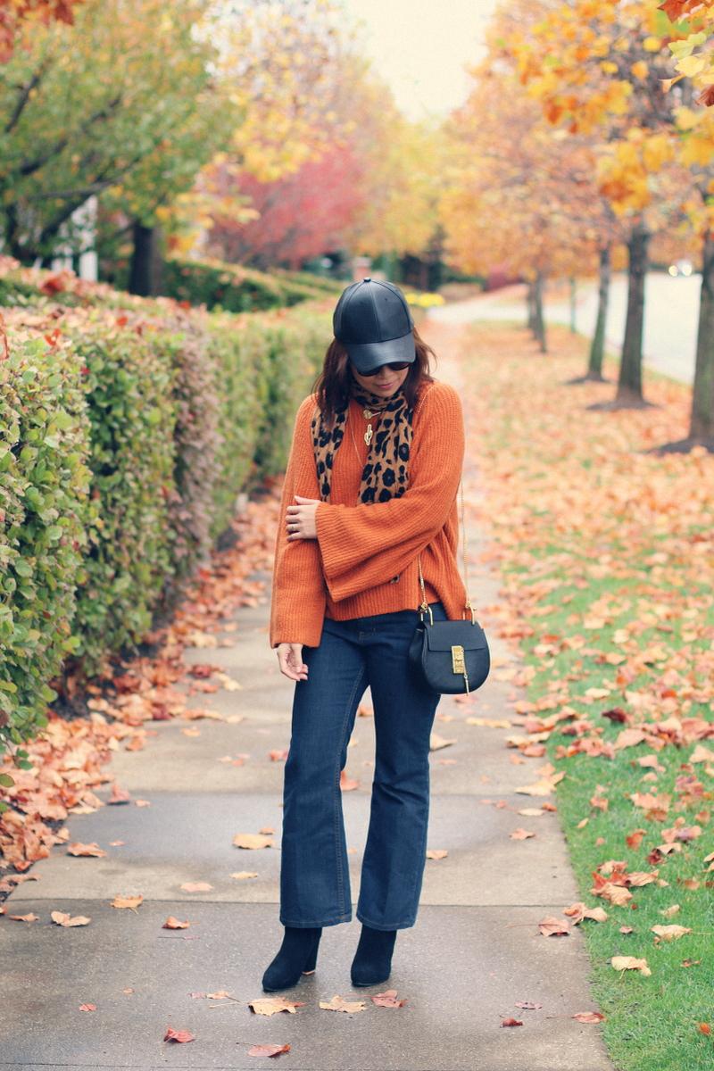 orange-rust-bell-sleeve-sweater-flare-jeans-8