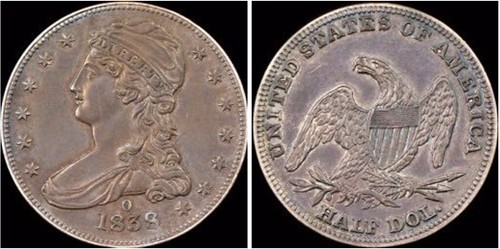 1838-O HALF DOLLAR RESEARCH