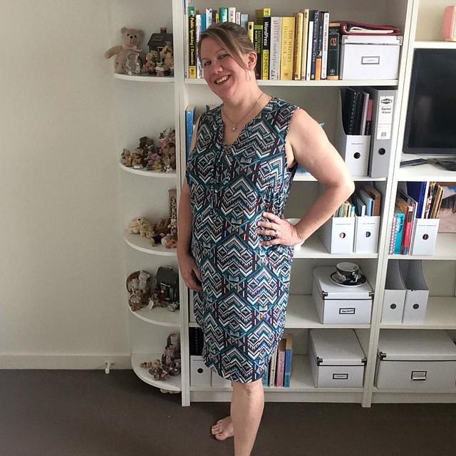 pixellated dress Suzanne Grae