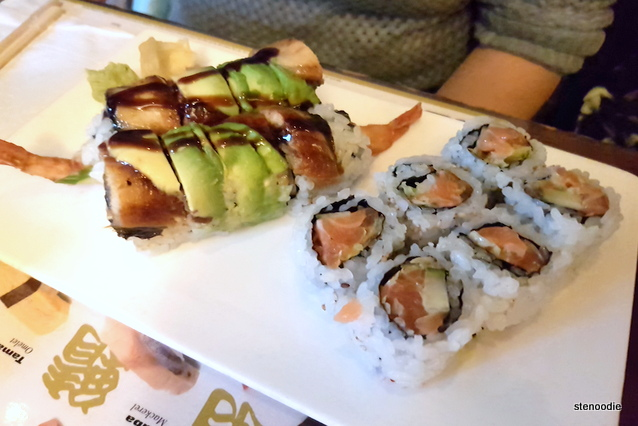 Dragon Roll and Crunchy Spicy Salmon Roll