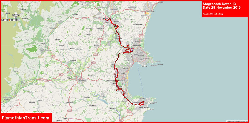 2016 11 28 Stagecoach Devon Route-013 Map.jpg