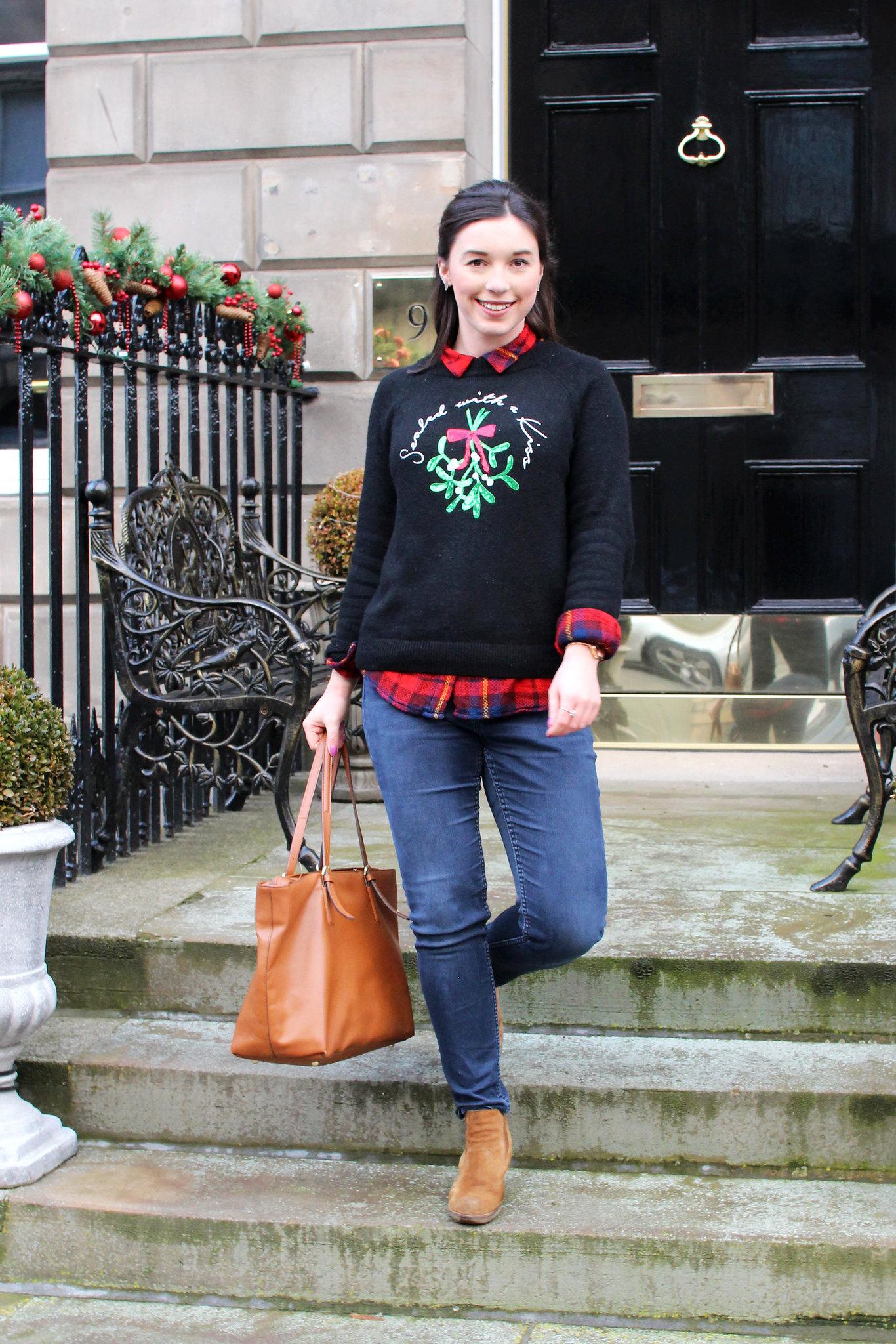 Christmas jumper fashion UK Edinburgh blogger The Little Things