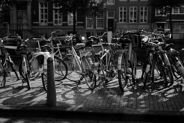 Bike at canal in Amsterdam 46