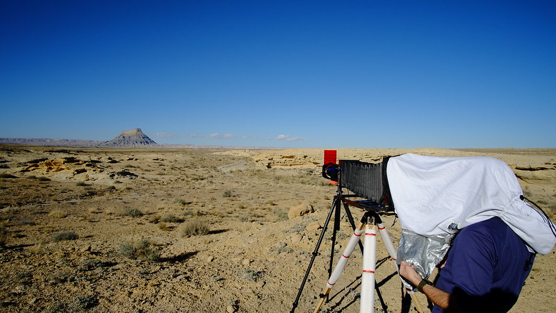 Taking Picture of Factory Butte, UT  on Large Format