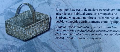 El galipo, cesto de madera trenzada usado por los arrantzales (pescadores) de Zierbana