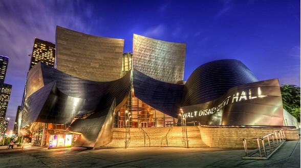 tour bờ Tây Nước Mỹ Disney Hall