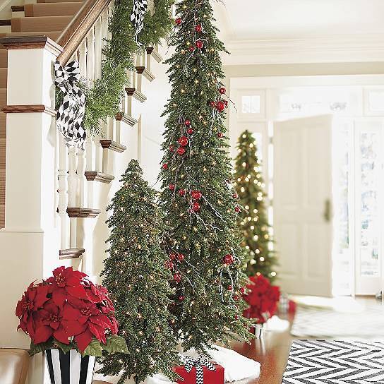 Slim Christmas Trees Holiday Decorating in Small Spaces