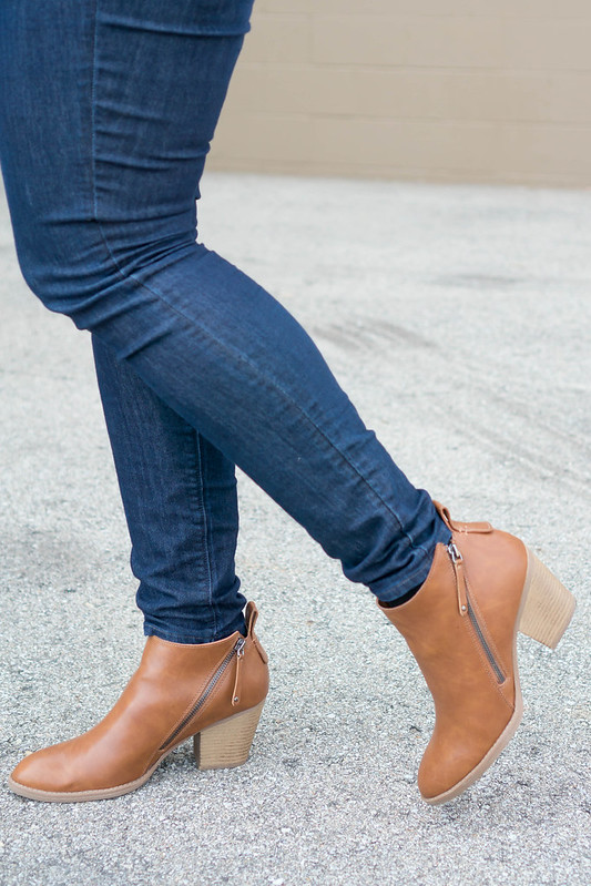 J.Crew corduroy blazer + stripe tee + Loft jeans + Target ankle boots; casual fall outfit | Style On Target blog