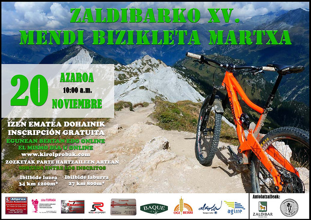 XV Marcha BTT Zaldibar. 20 Noviembre 2016