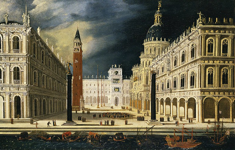 François de Nomé called Monsù Desiderio - Venice, from the Bacino di San Marco
