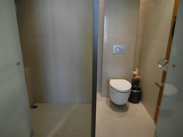 乾濕分離的淋浴間與廁所@台中日月千禧酒店