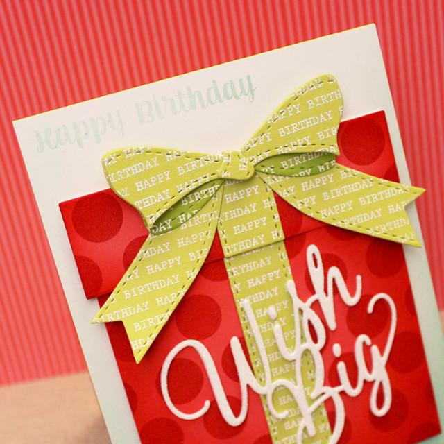 Wish Big Gift Bow Close Up