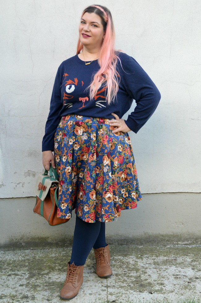 Outfit blu e floreale (9)