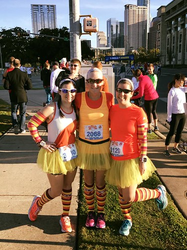 Kate, Karen and Amy pre-Turkey Trot 2016