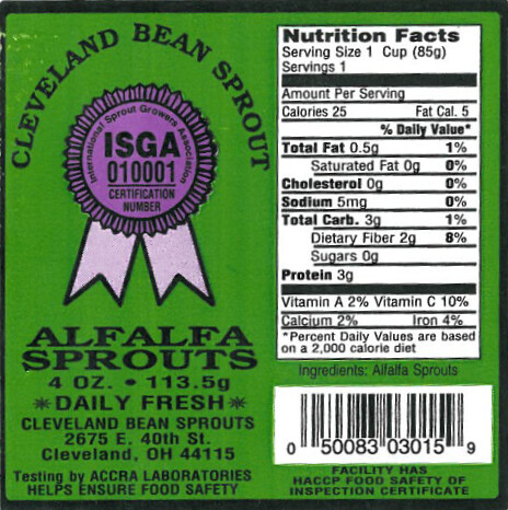 RECALLED – Alfalfa Sprouts | by The U.S. Food and Drug Administration