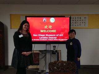 Dec 2 '16 SDMA Library Service Coordinator Loretta Deaver Visits CISDSU