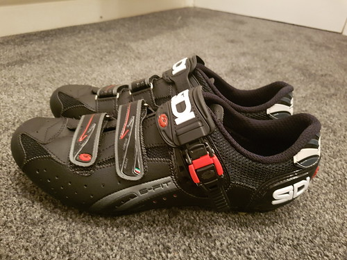 Size 11/46 2016 Sidi Eagle 5 Fit MTB Shoes With Shimano Cleats.