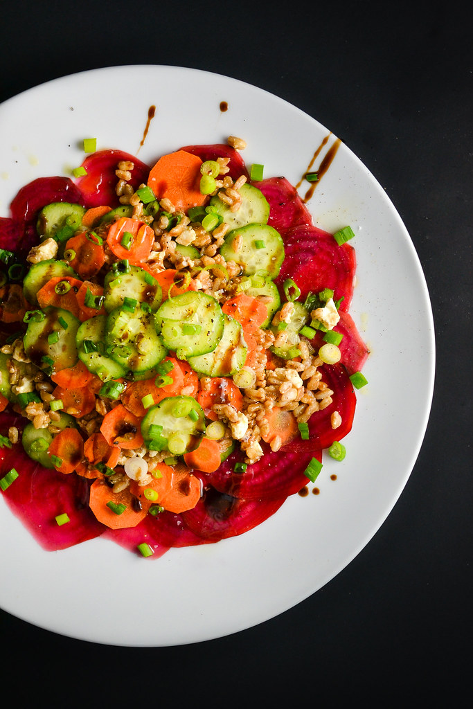 Farro Salad With Carrots, Beets, Cucumbers, and Feta | Things I Made Today