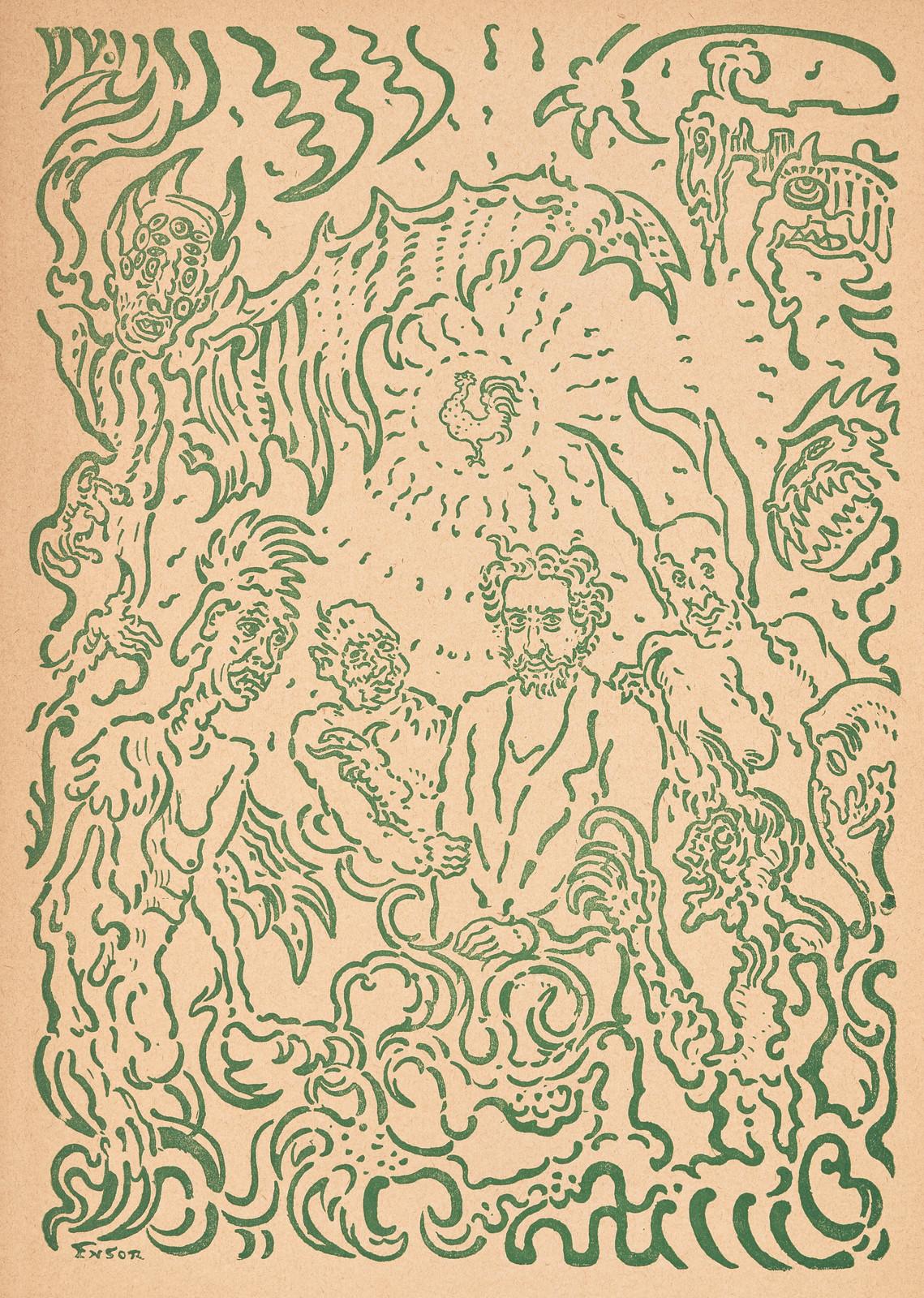 James Ensor - Demons Teasing Me, 1898