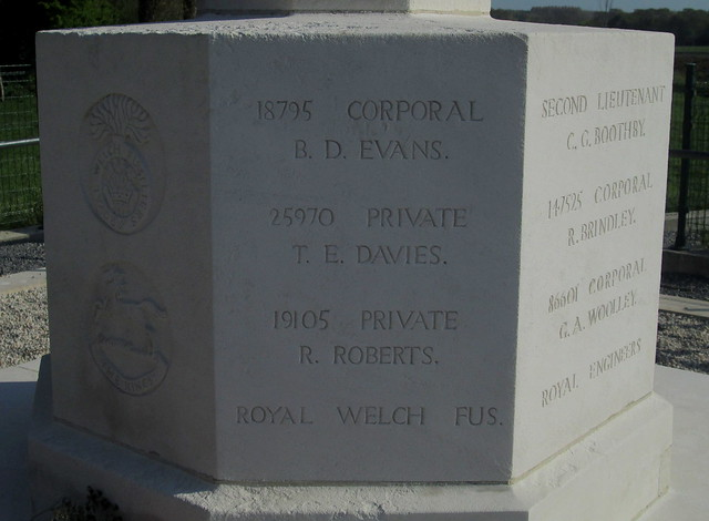 Royal Engineers Grave, Railway Wood, Inscription 3