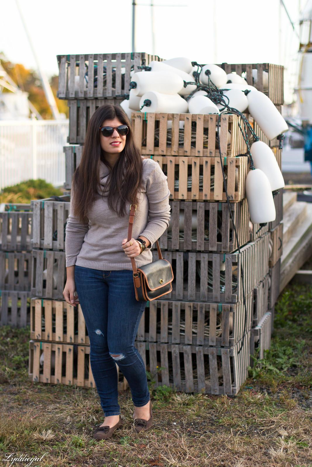 tan cowl neck sweater, brow bow ferragamo loafers, pura vida bracelet-8.jpg