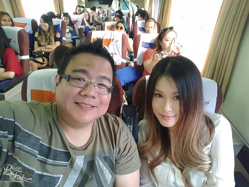 train to bandung selfie