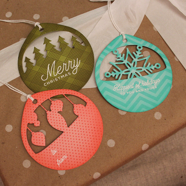 Patterned Christmas Cuts Tags