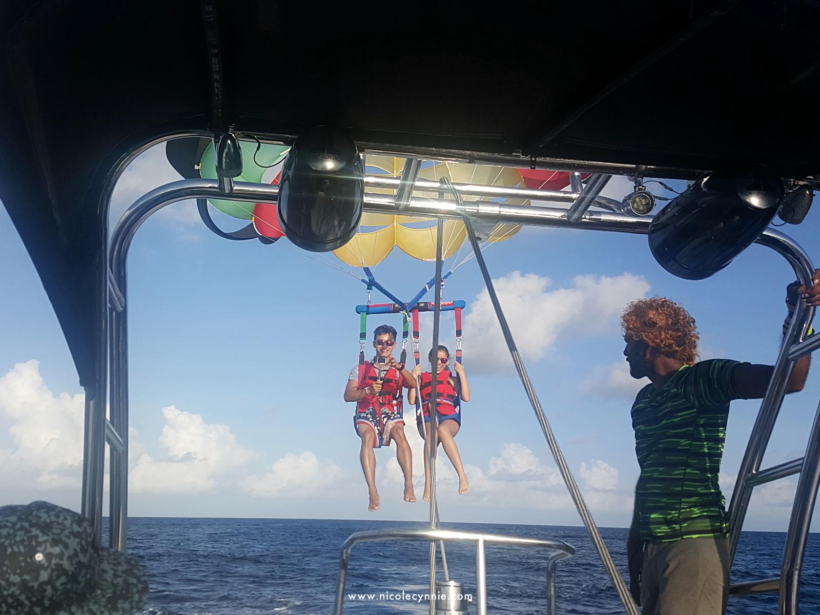 Nicole Cynnie | Parasailing @ Maafushi Island 1