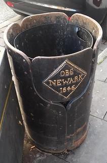 Newark Siege coin rubbish bin1
