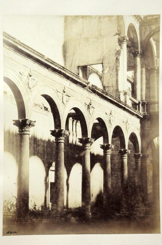 Alcázar de Toledo en 1852. Fotografía de Felix Alexander Oppenheim © Museum für Islamische Kunst, Staatliche Museen zu Berlin