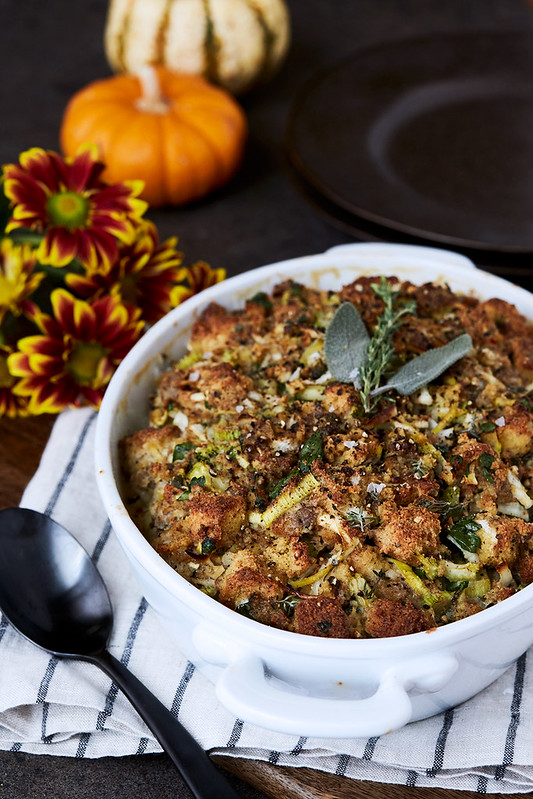 Paleo Sausage and Herb Bread Stuffing