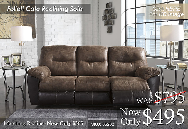 Follet Cafe Reclining Sofa 65202-88-SET