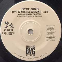 JOYCE SIMS:LOVE MAKES A WOMAN(LABEL SIDE-A)